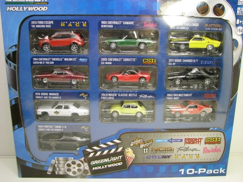 Set 10 modelů 1:64 Greenlight Hollywood 71710